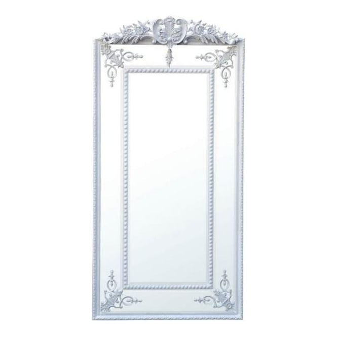Rectangular Inlay Antique French Style Mirror