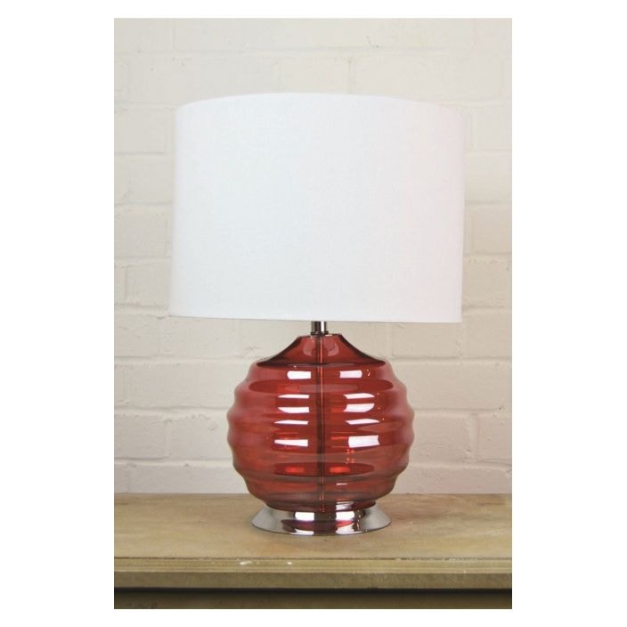 Red glass table lamp modern table lighting red glass table lamp aloadofball Images
