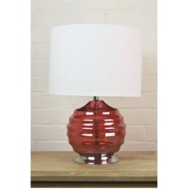 Red Glass Table Lamp