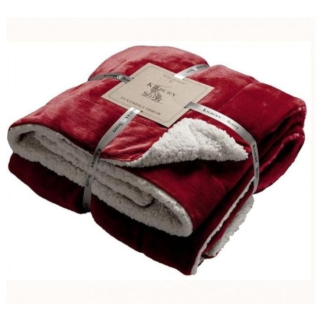 Red Sherpa Throw