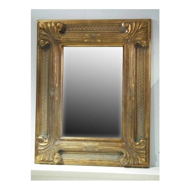 Regal Gold Antique French Style Wall Mirror