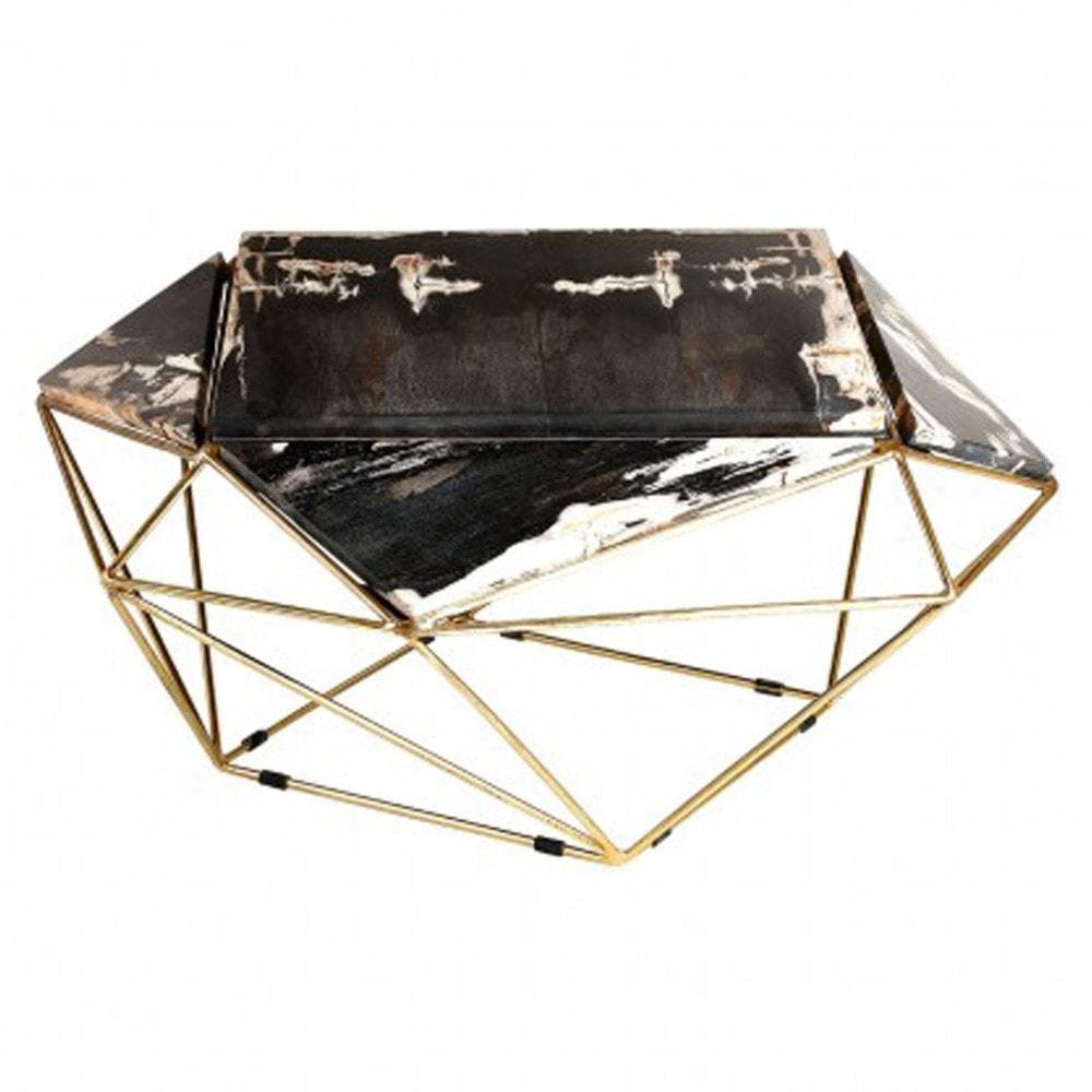 - Relic Dark Petrified Wood Coffee Table Modern Coffee Tables