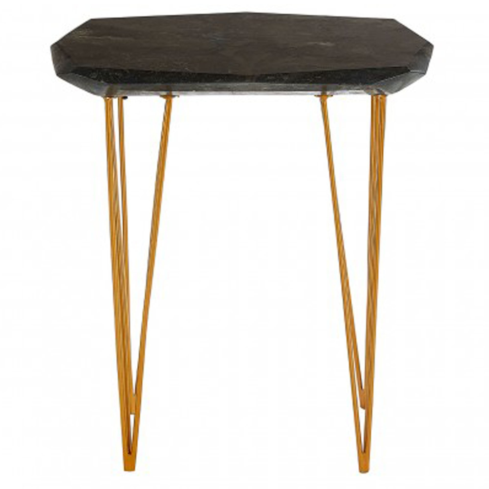 Picture of: Relic Small Black Marble Top Side Table Modern Side Tables