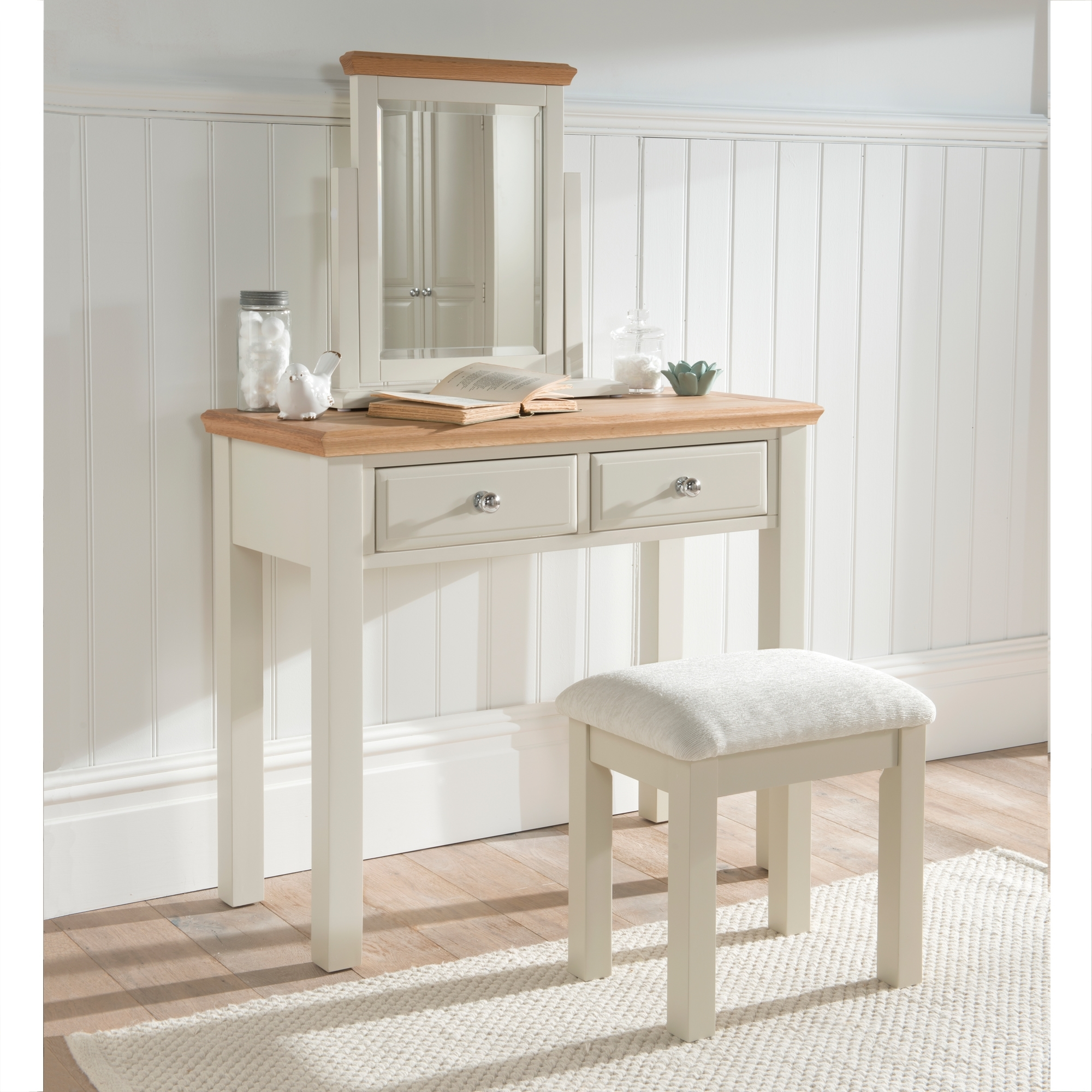 Remi shabby chic dressing table set french furniture remi shabby chic dressing table set geotapseo Images