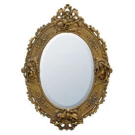 Rennaisance Gilt Leaf Antique French Style Mirror