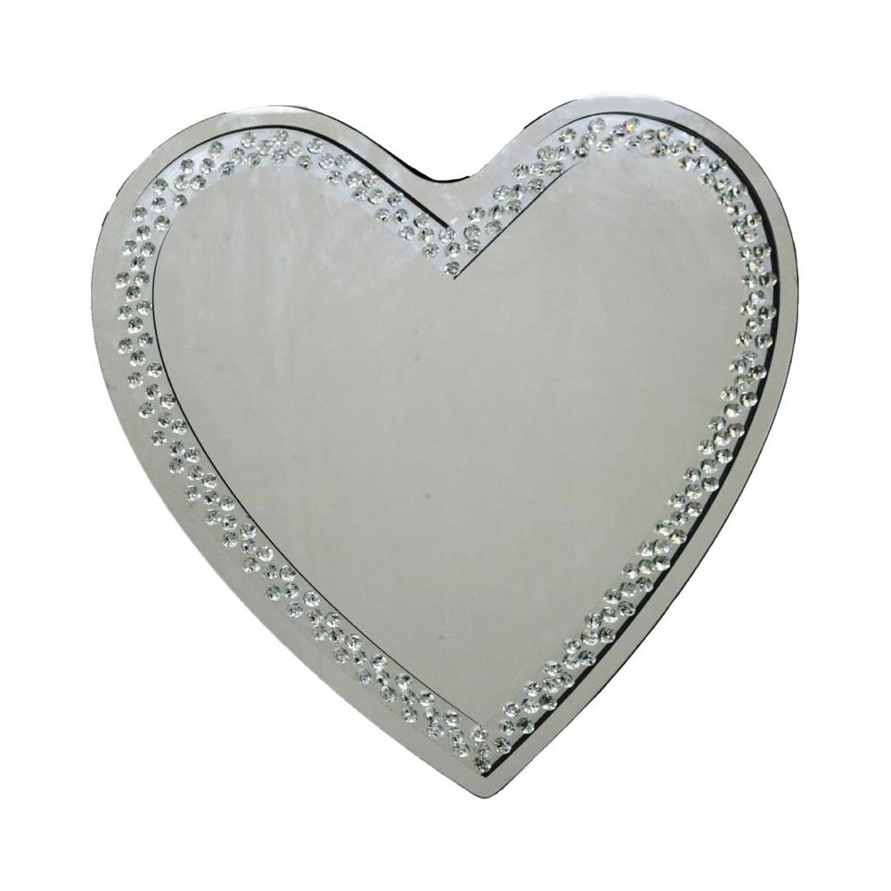 Rhombus Heart Mirror Heart Wall Mirror Home Accessories