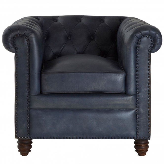 Rich Blue Buffalo Armchair
