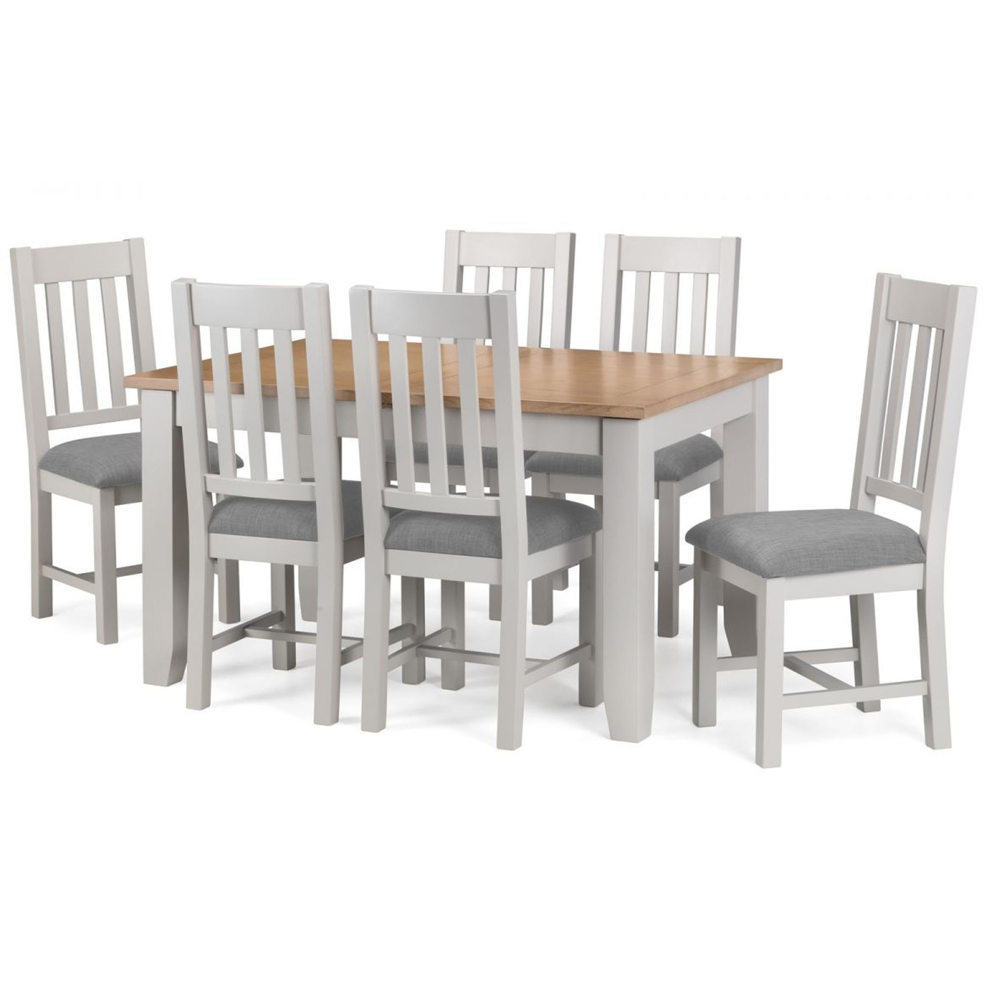 Richmond 2 tone oak dining set modern dining furniture