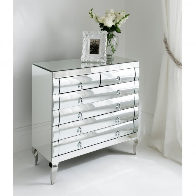 Rimini Mirrored Chest 2 Over 2 Drawers