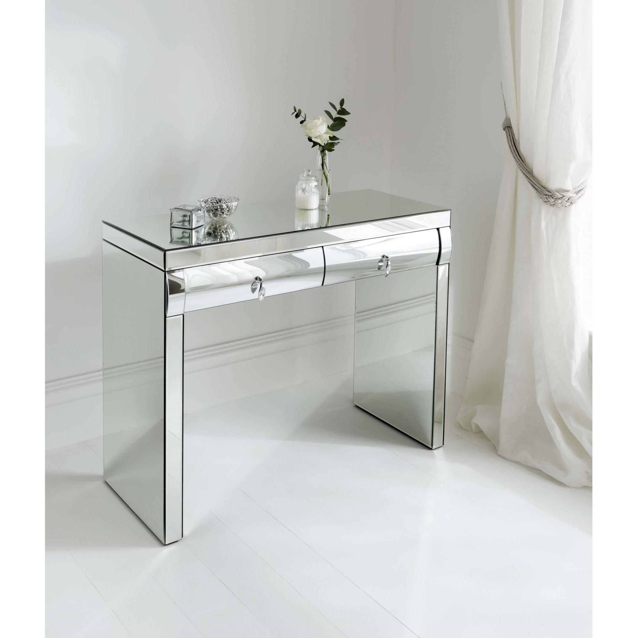 Rimini mirrored dressing table venetian mirrored furniture online