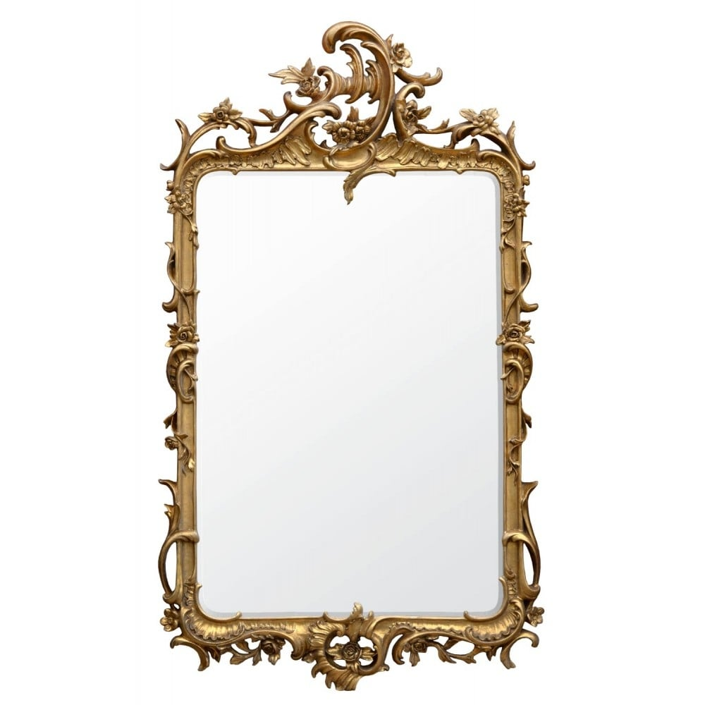 rocaille gold antique french style mirror mirrors