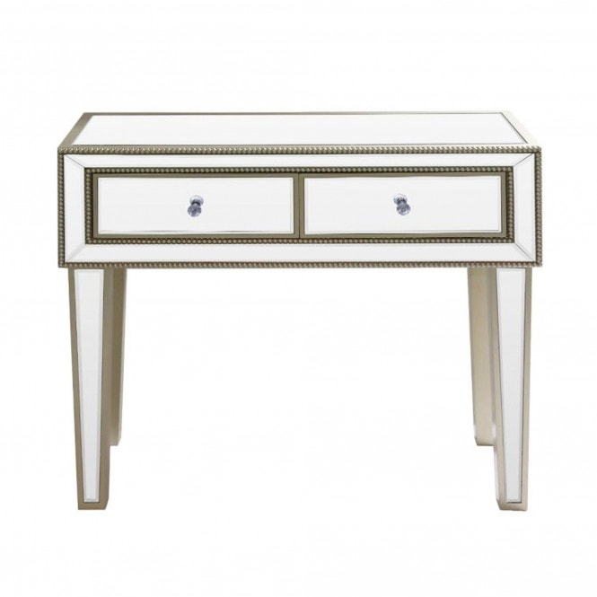 Rocco Mirror Console Table, Used Mirrored Tables