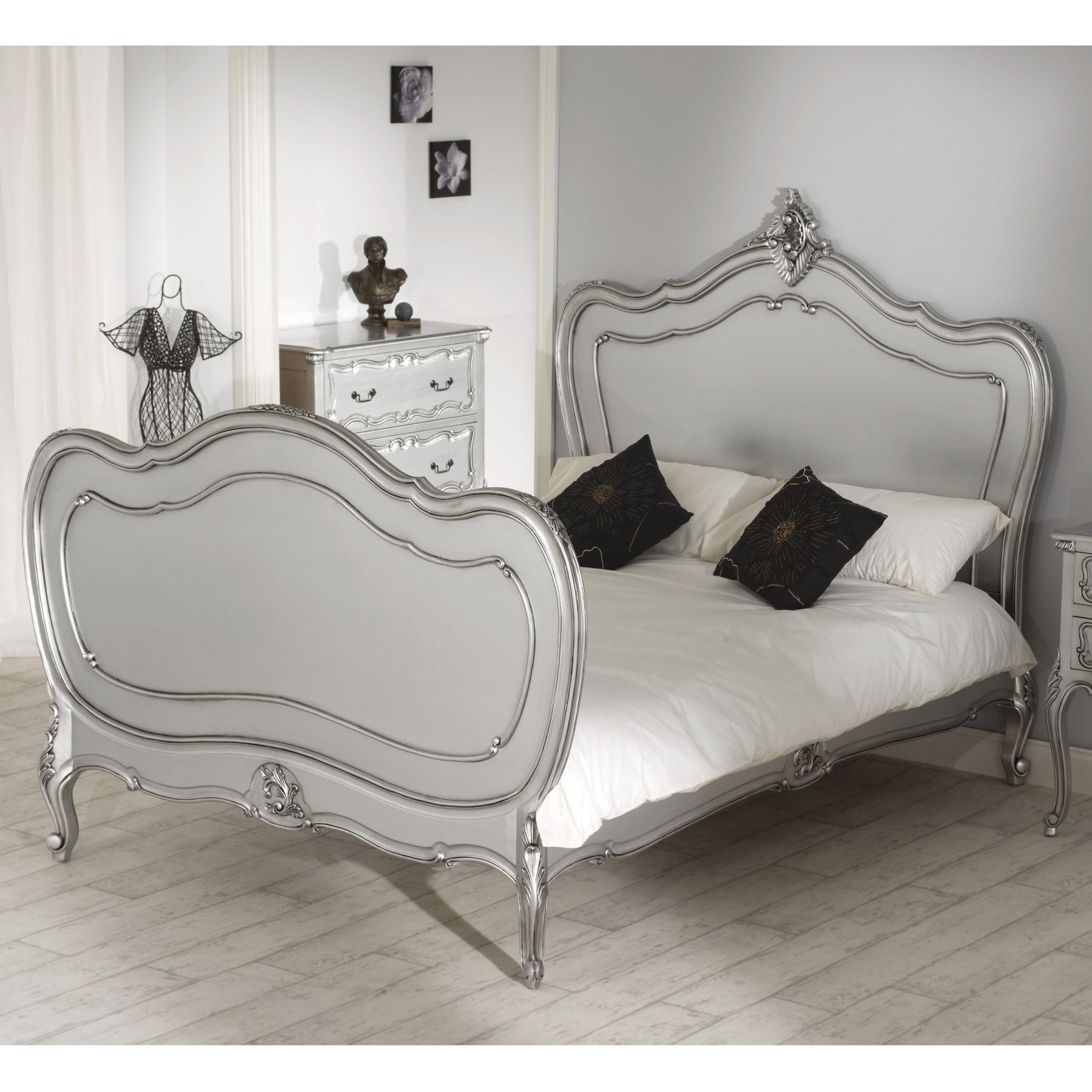 Lille Bedroom Furniture Rochelle Lille Antique French Silver Bed Size Double La
