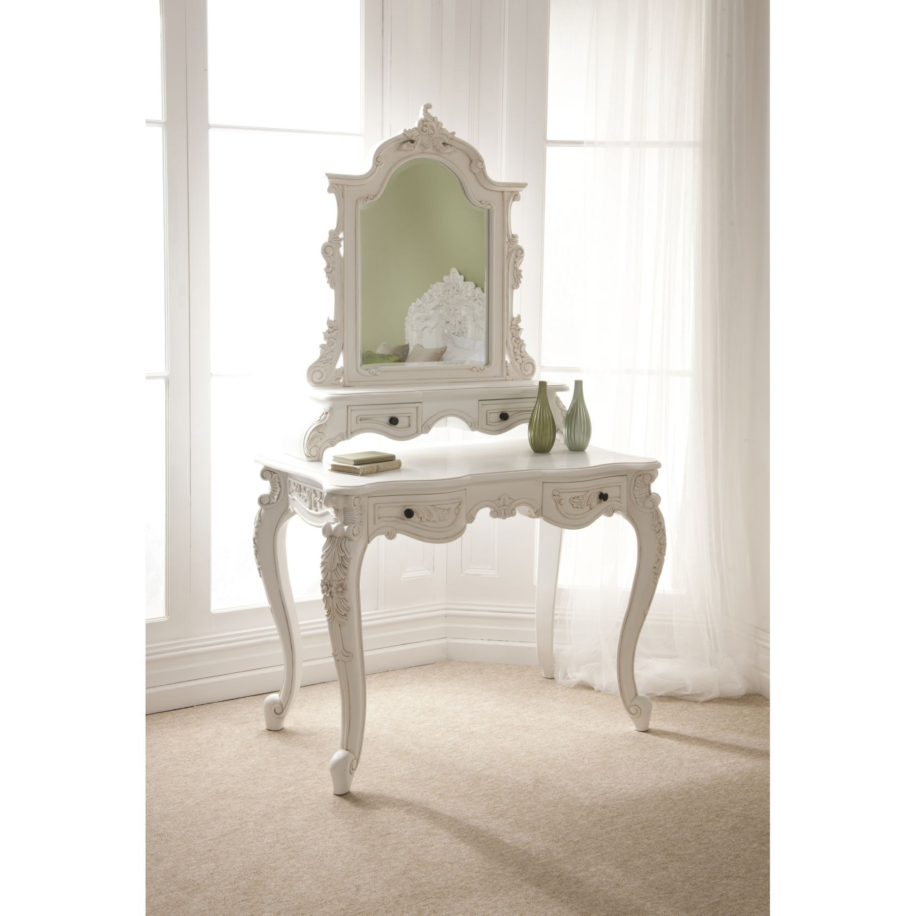 Rococo Antique French Dressing Table Set French Furniture From