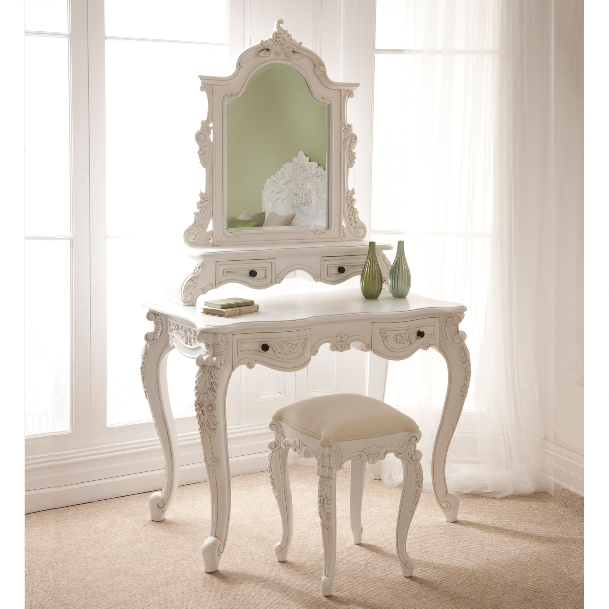 Rococo Antique French Dressing Table Set French
