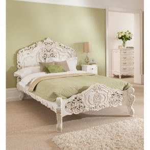 Rococo Antique French Bed (Size: Kingsize)