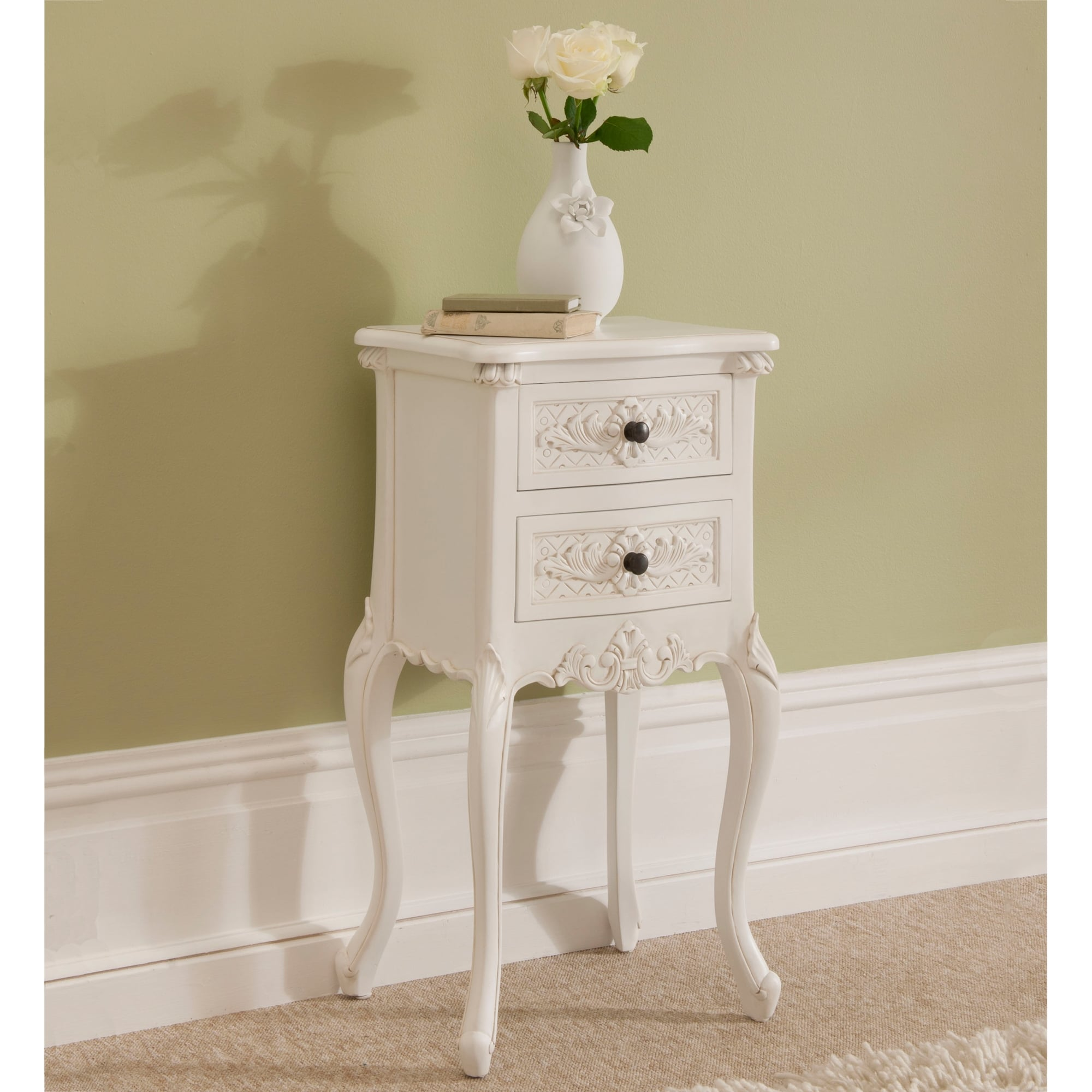 Rococo antique french bedside to compliment our shabby chic furniture - Shabby shic furniture ...