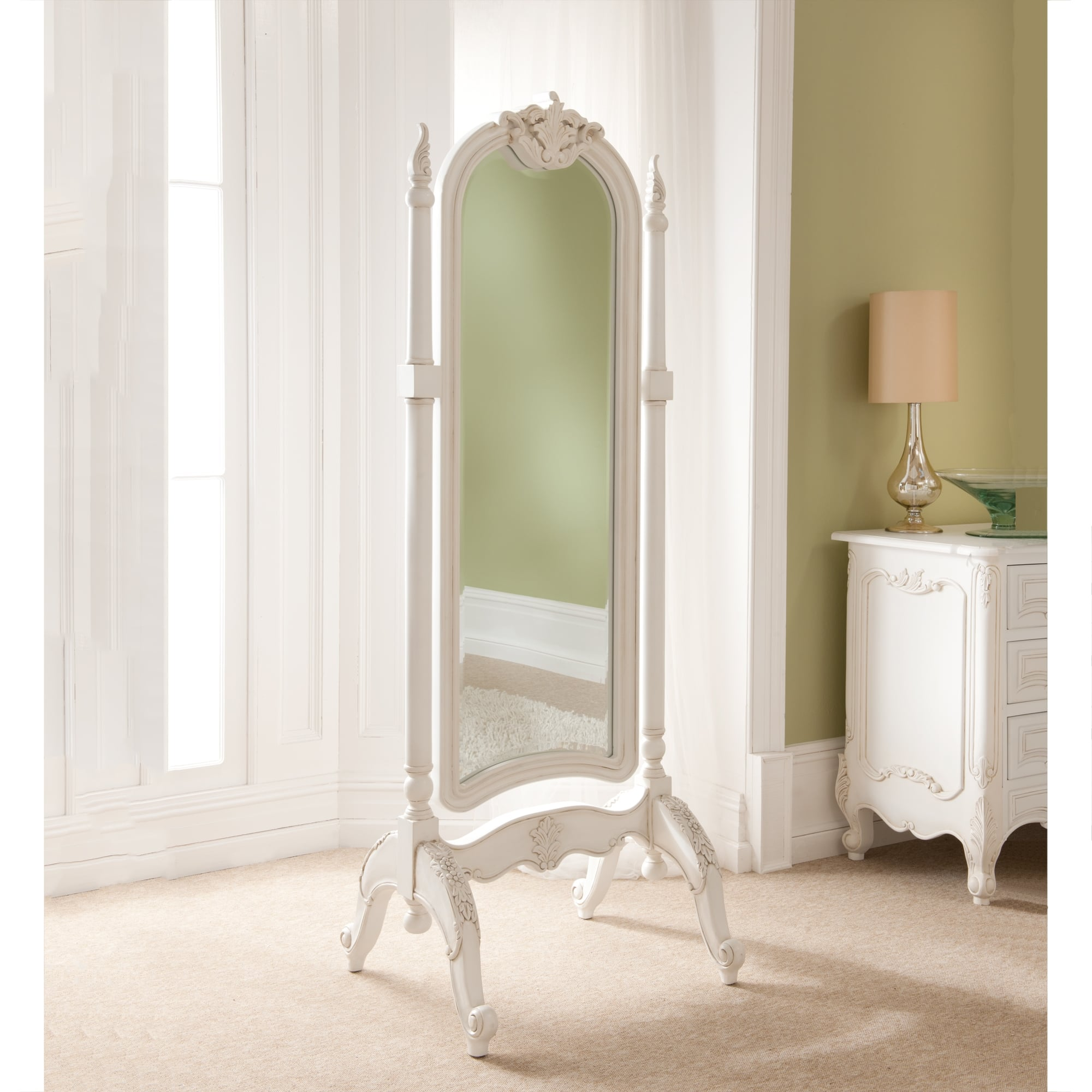 Rococo antique french cheval mirror for Cheval mirror