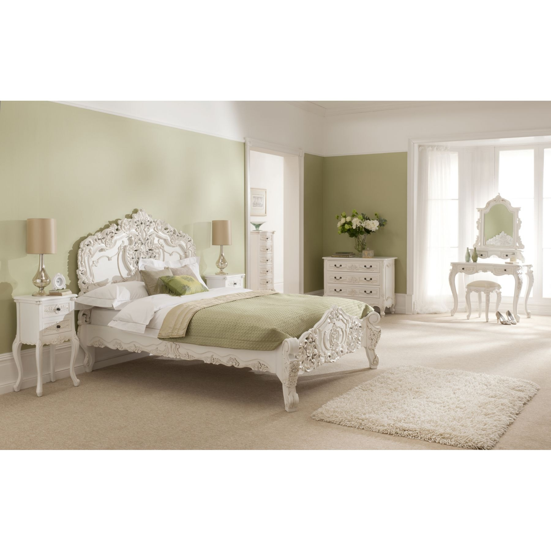 french bedroom sets. Rococo Antique French Dressing Table White Bedroom Furniture  Interior Design