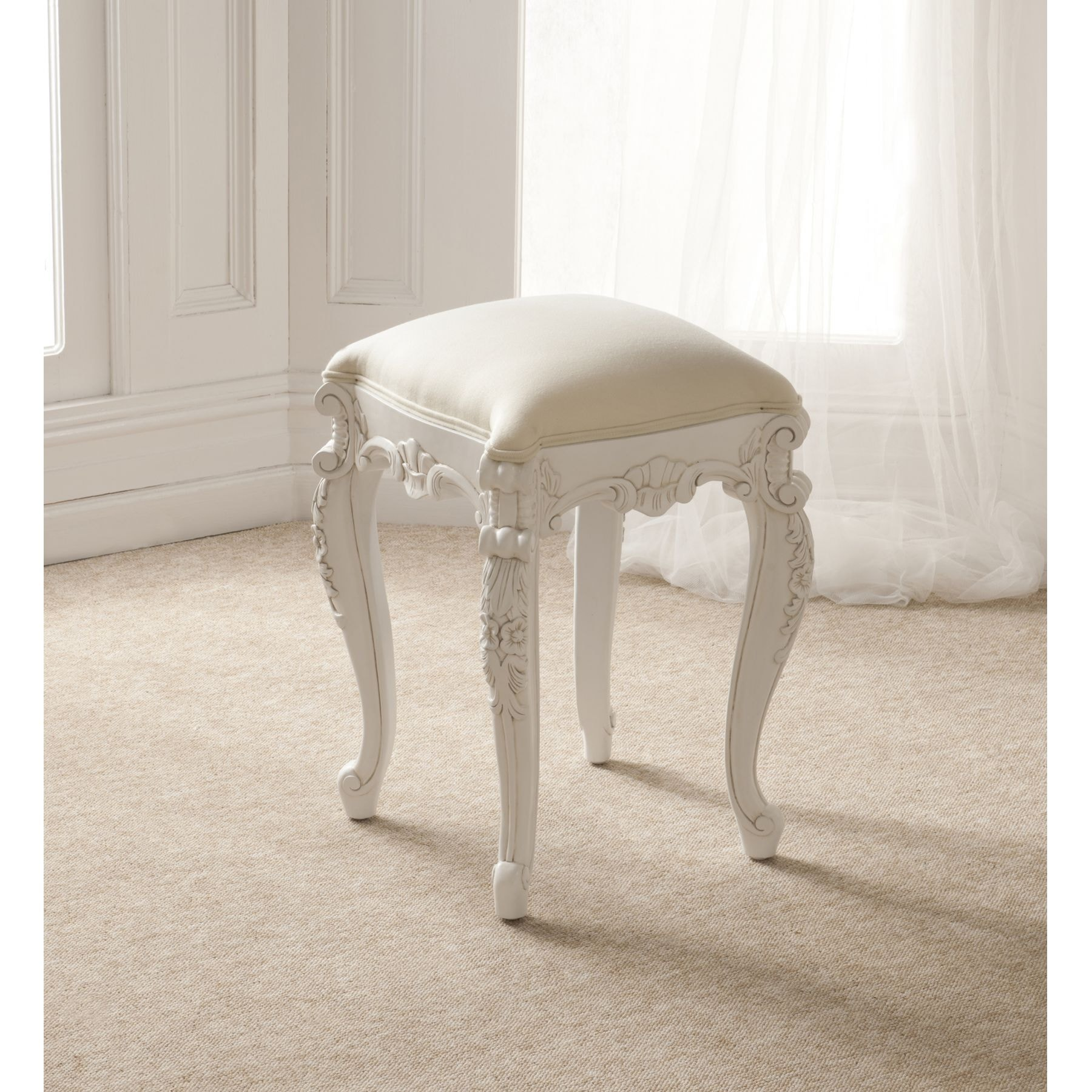 Rococo Antique French Stool