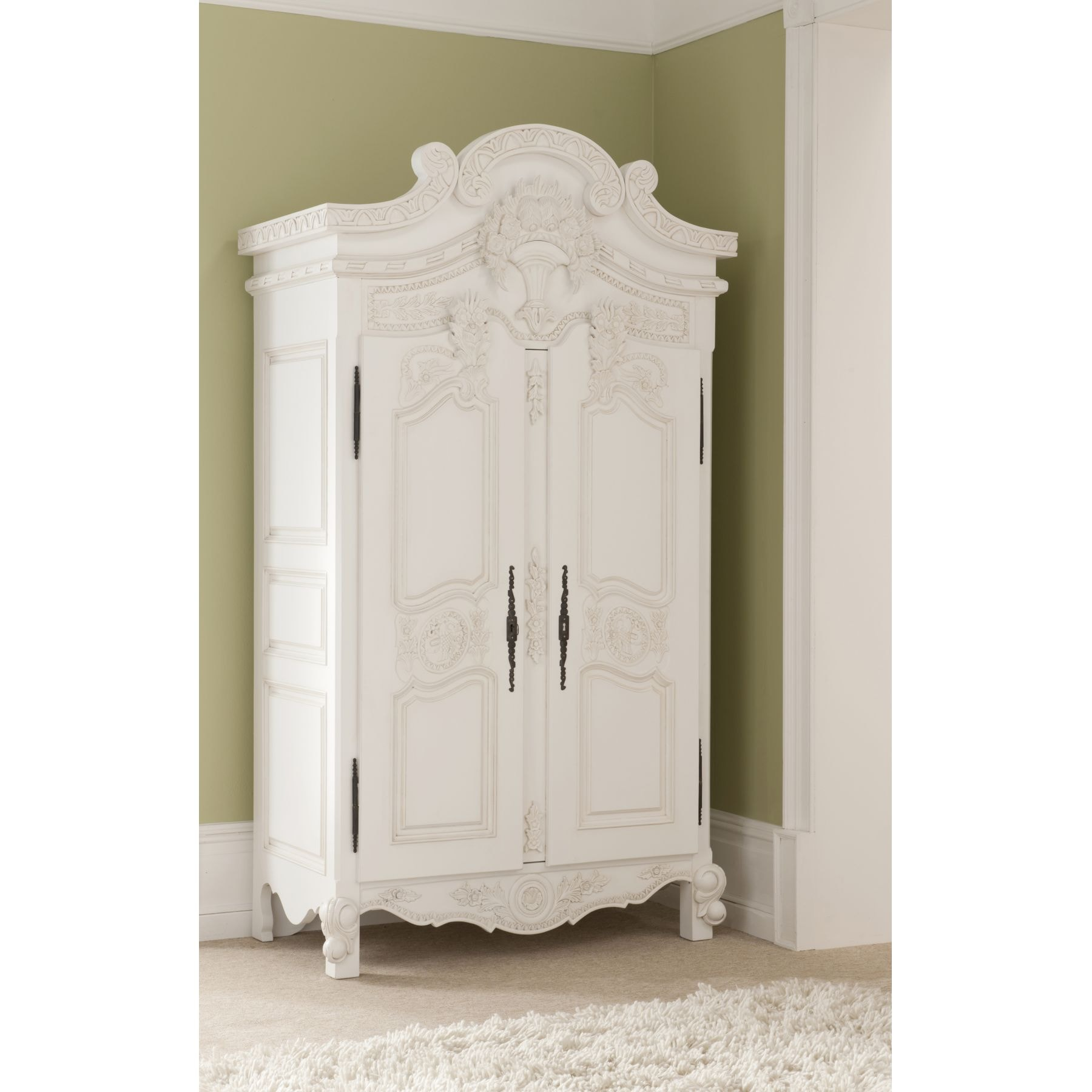 rococo antique french wardrobe a stunning addition to our shabby chic bedroom furniture. Black Bedroom Furniture Sets. Home Design Ideas