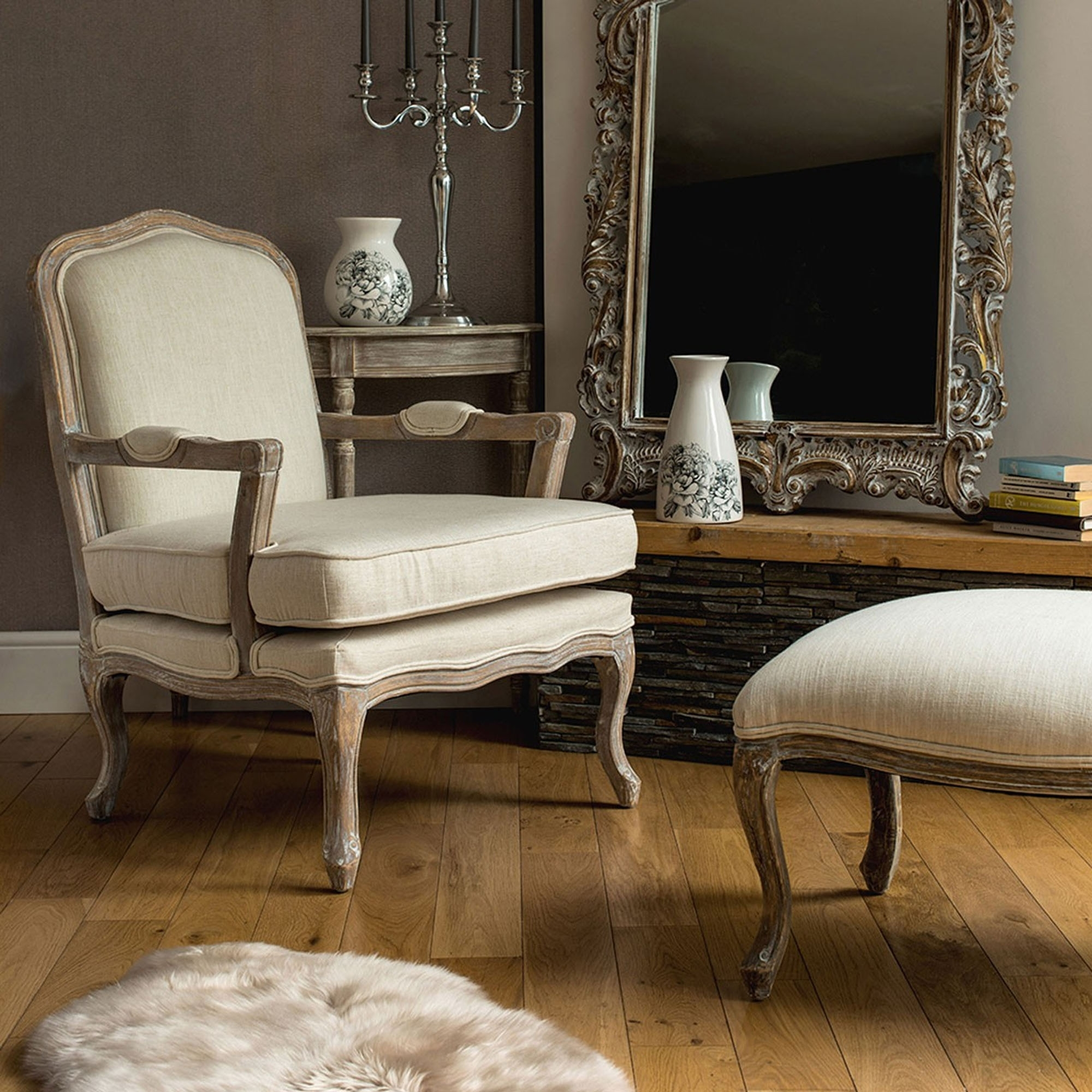 Bon Rococo Chair U0026amp; Footstool