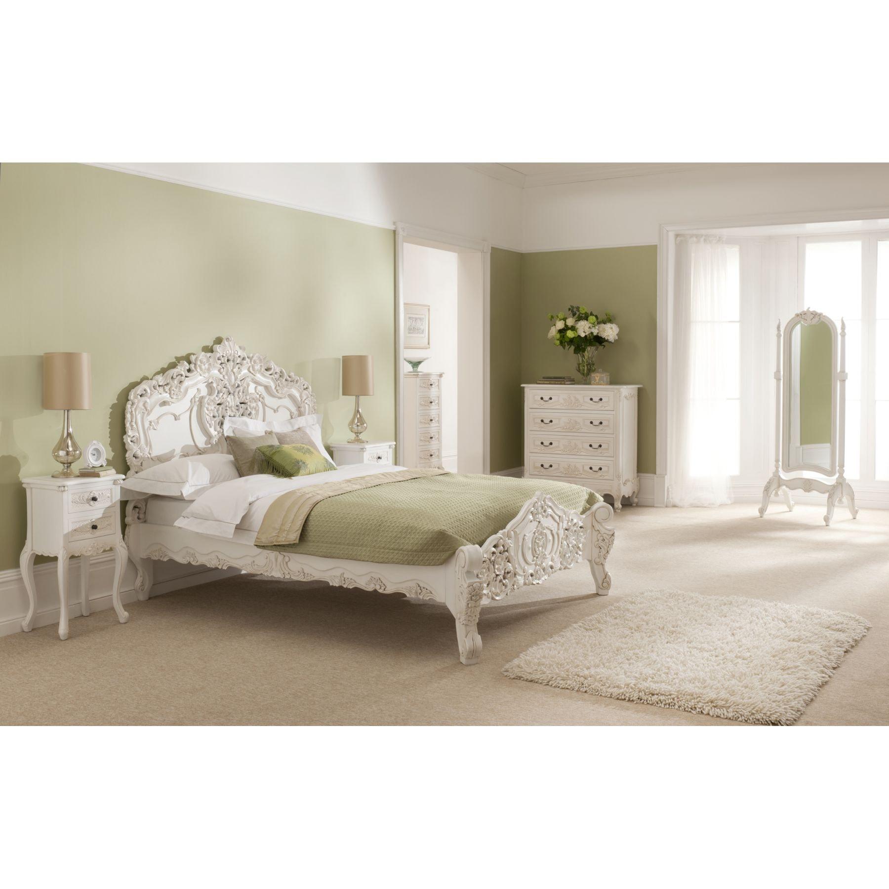 shabby chic furniture bedroom. Rococo Shabby Chic Antique Style Bedside Table Furniture Bedroom