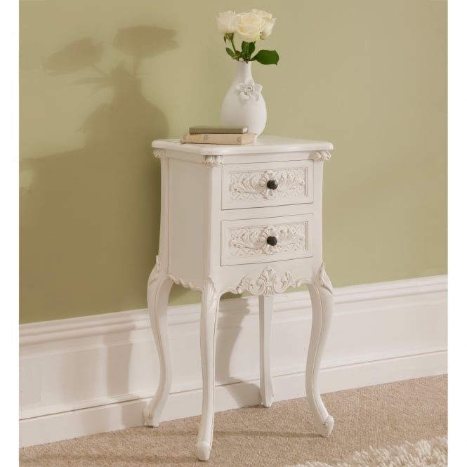 Rococo Shabby Chic Antique Style Bedside Table