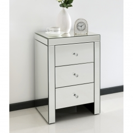 Romano Crystal Mirrored Bedside