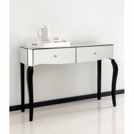 Romano Crystal Mirrored Console Table