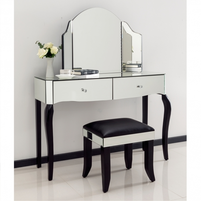 Romano Crystal Mirrored Dressing Table Set