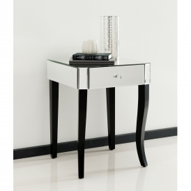 Romano Crystal Mirrored Side Table