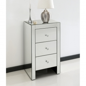 Romano Crystal Slim Venetian Mirrored Bedside