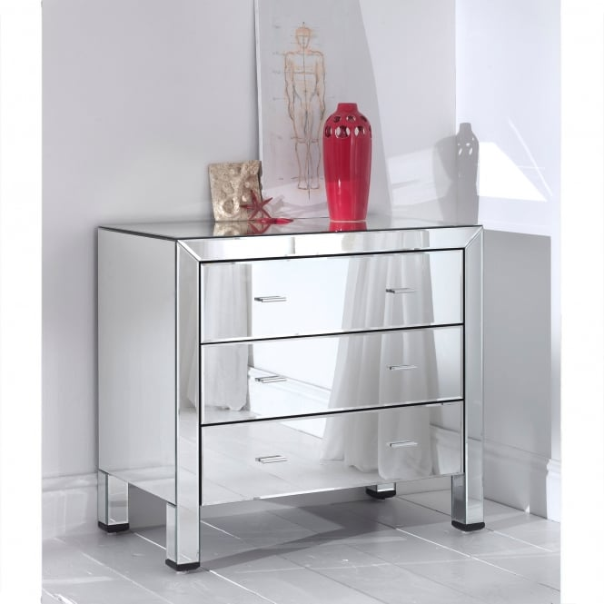 Romano mirrored chest 3 drawer french furniture from for Furniture 365 direct