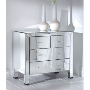 Romano Mirrored Chest 4 Drawer