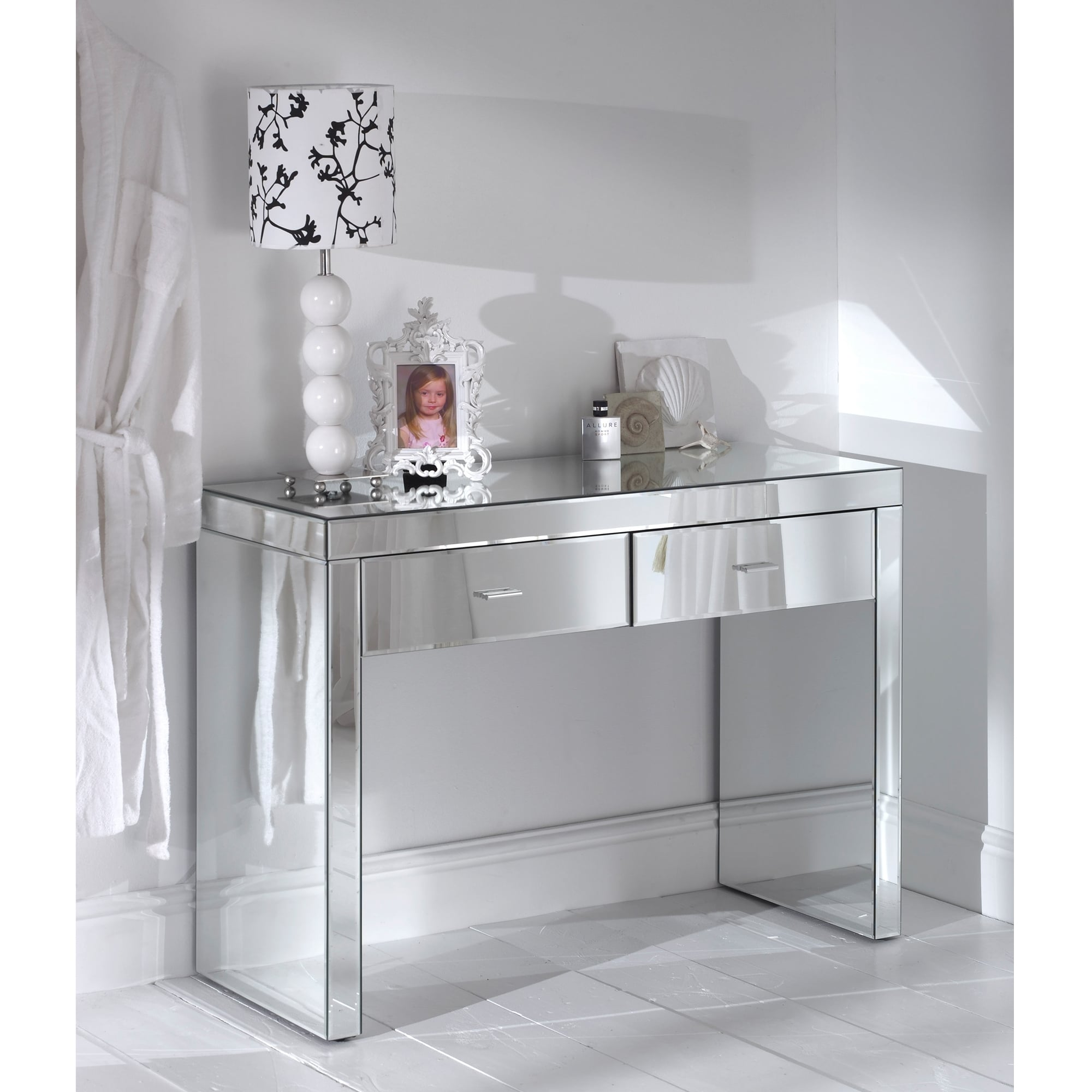 Glass Mirrored Romano Console Table