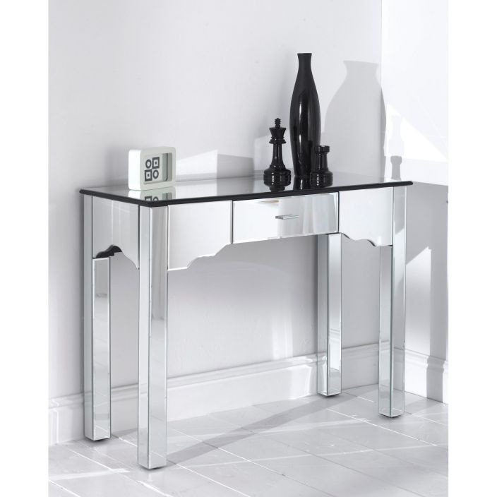 remarkable special console with table decoration mirrored drawers holiday well suited hayworth ideas