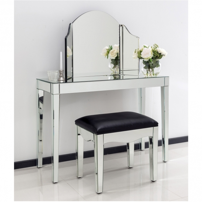Romano Mirrored Console Table Set