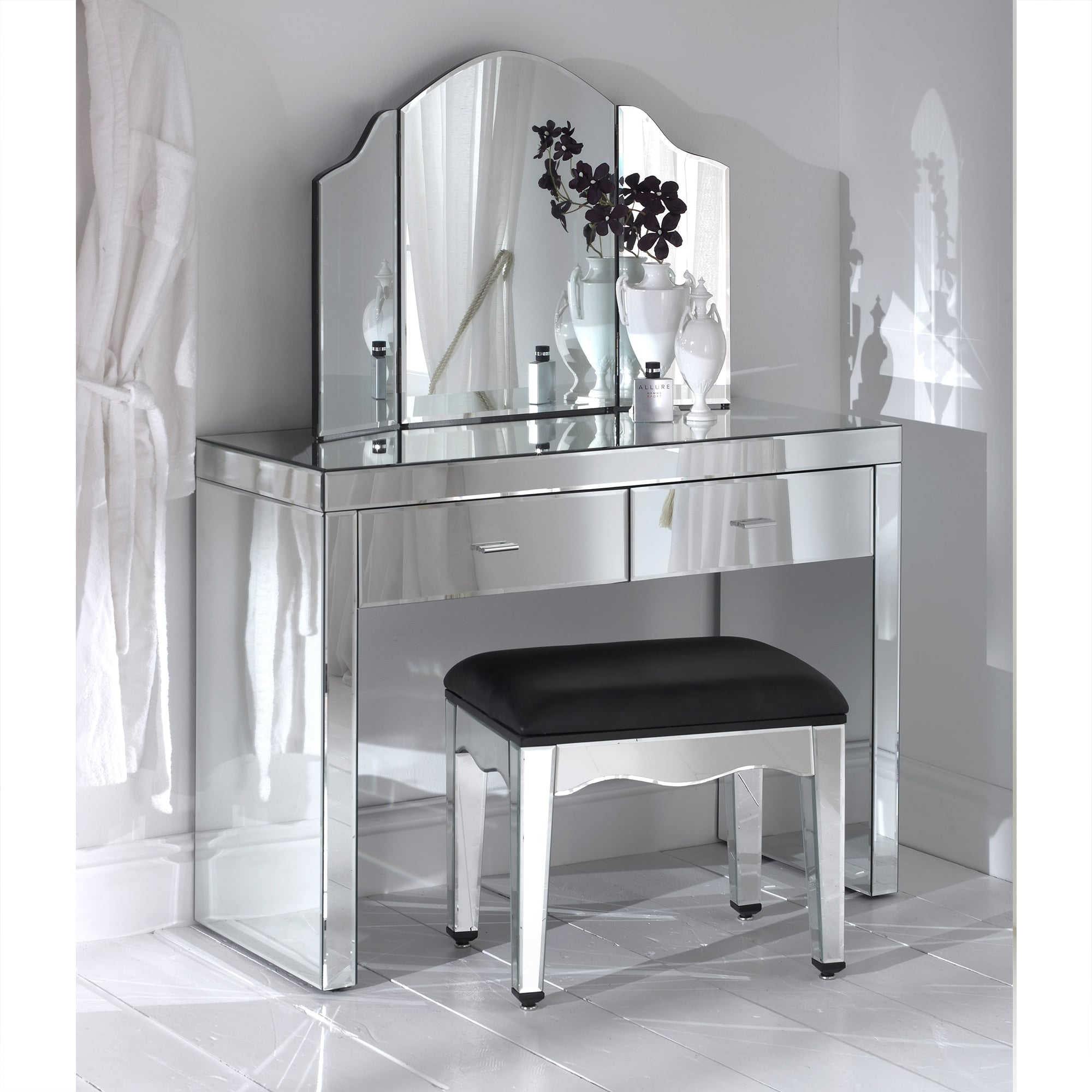 Romano Mirrored Dressing Table Set - French Furniture from ...