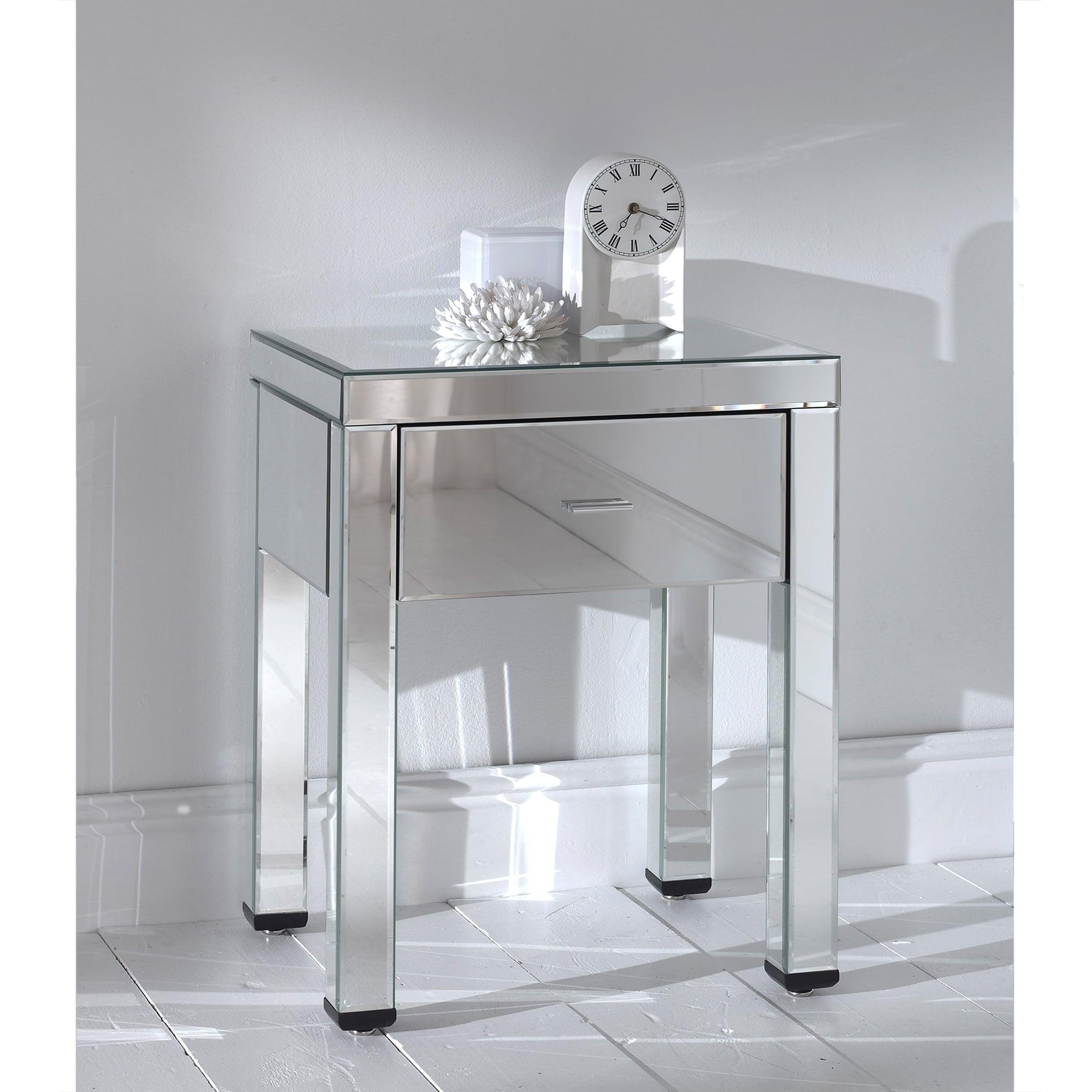 Venetian Romano Mirrored Side Table, Narrow Mirrored Side Table