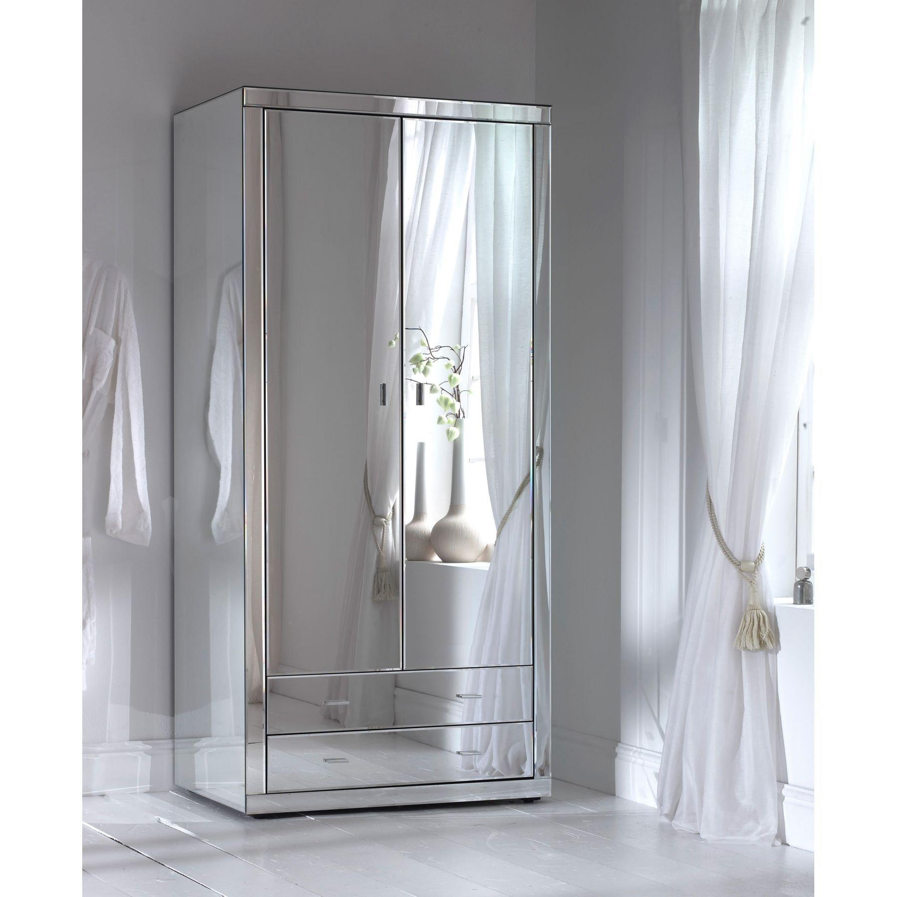 Romano Mirrored Wardrobe Romano Mirrored Bedside 3