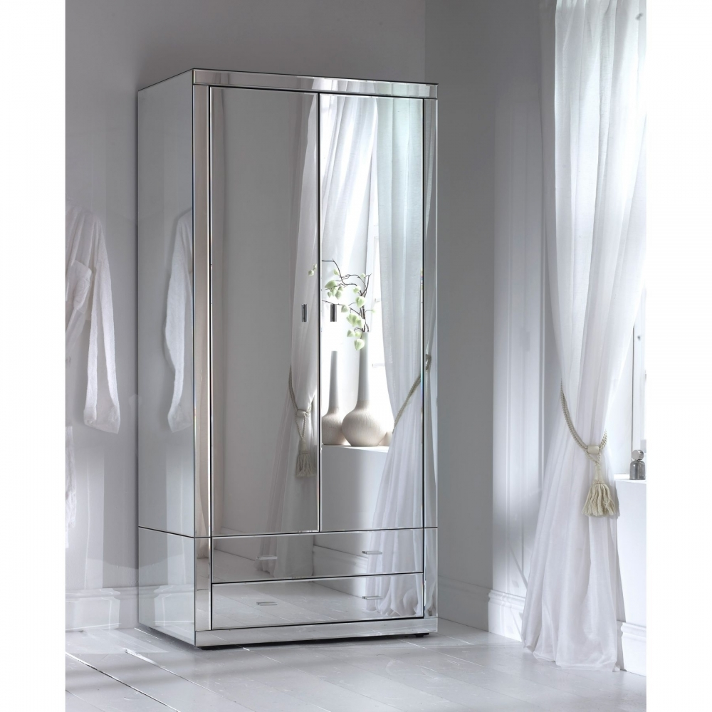 Romano Mirrored Wardrobe Mirrored Bedroom Wardrobe