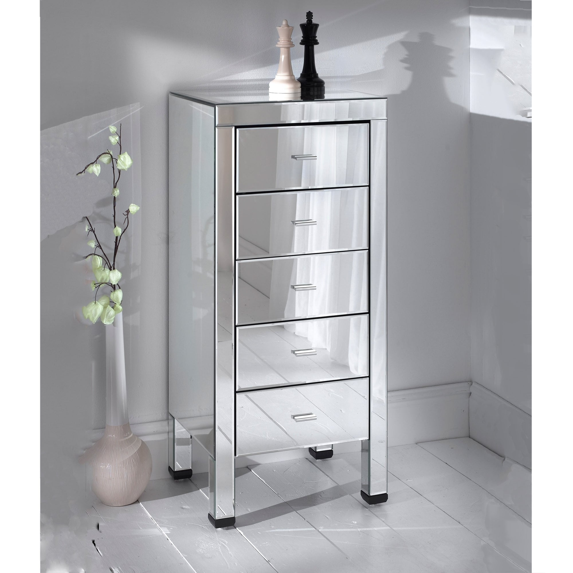 sparkle mr mirror furniture large drawers diamond cabinet home bling drawer