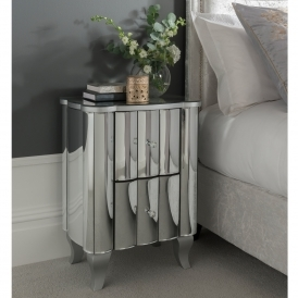 Rome Mirrored Bedside Table