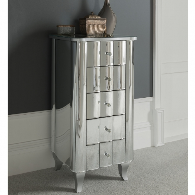 Rome Mirrored Tallboy Chest