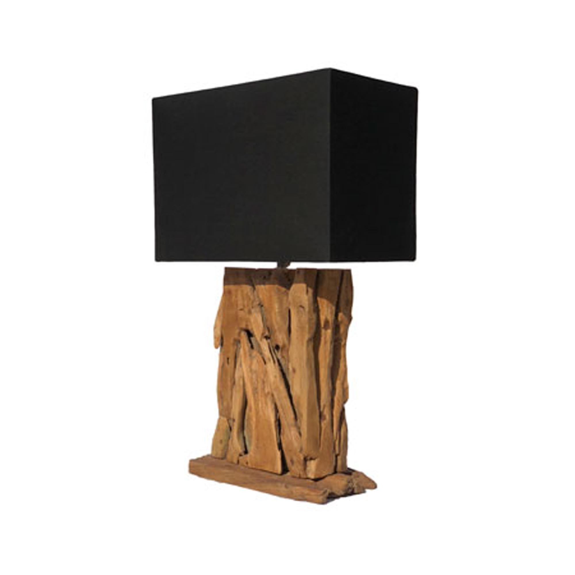 Root Forest Lamp With Black Shade Driftwood Lighting Table Lamps