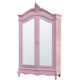 Rose Antique French Style Armoire