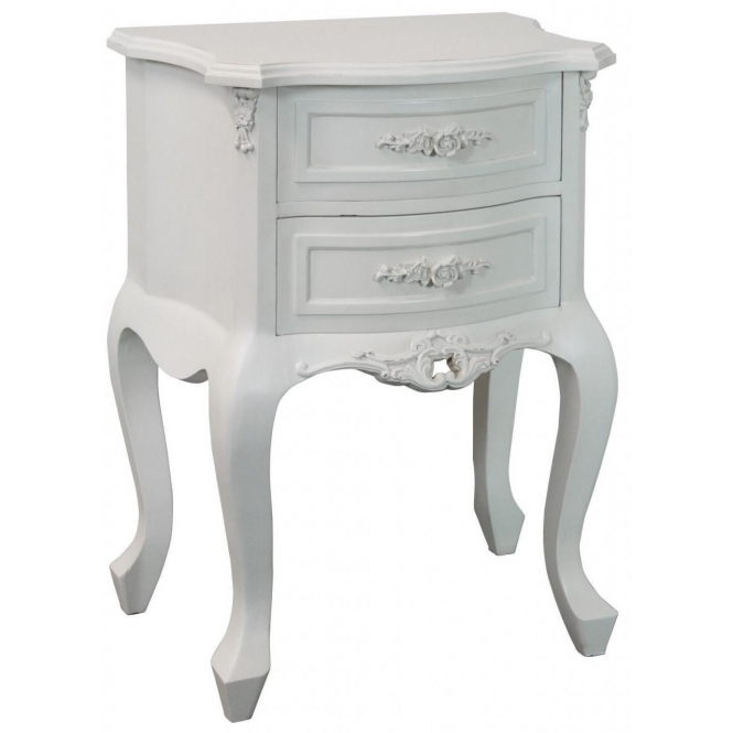 Rose Antique French Style Bedside