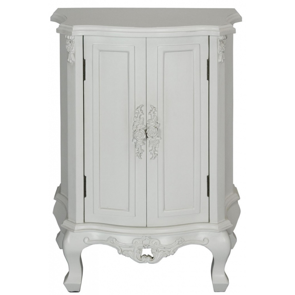 This Exceptional Rose Antique French Cupboard Works Well