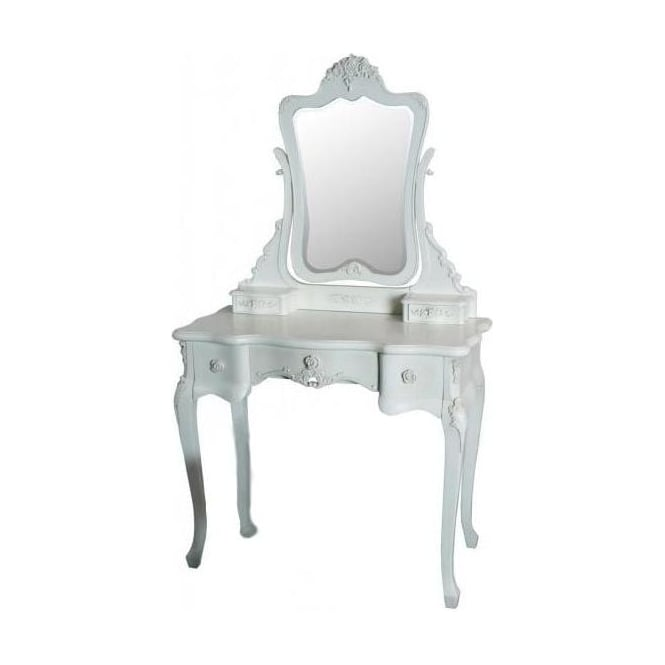 Rose Antique French Style Dressing Table